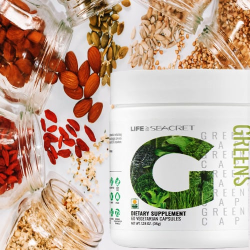Powder Greens Capsules By Life By Secret Nutrition Supplements
